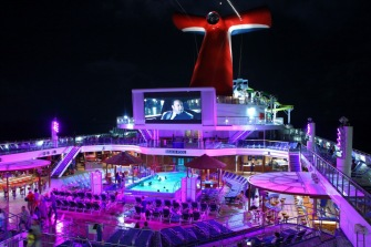 Lido Deck of Carnival Cruise Ship